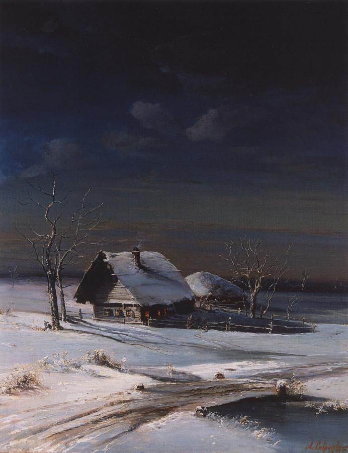 Alexei Savrasov - Winter landscape 1871