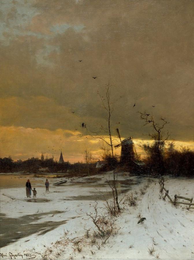 Heinrich Gogarten - Winter landscape, 1892