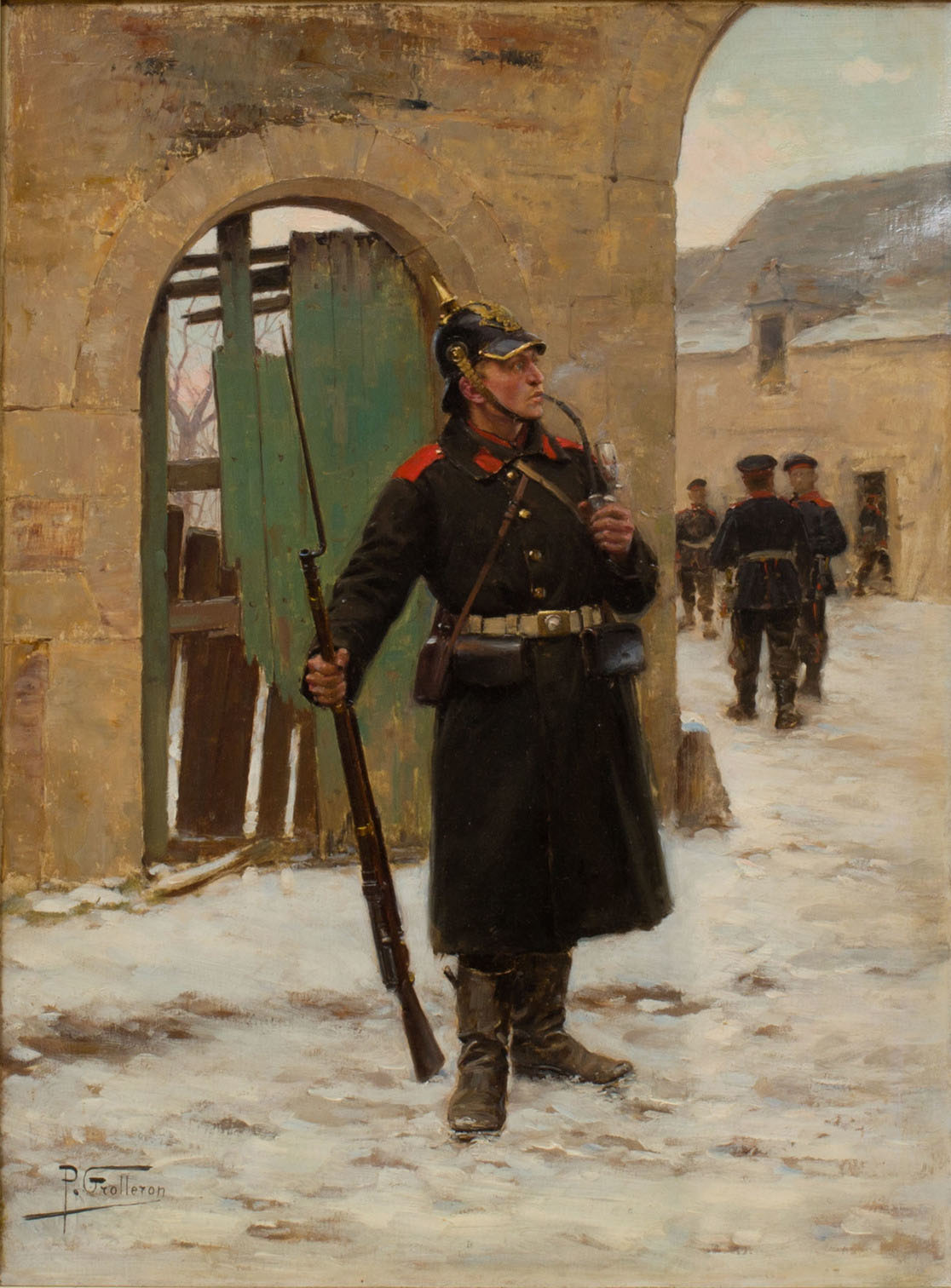 Paul Louis Narcisse Grolleron (1848-1901) -  Soldier and Musket