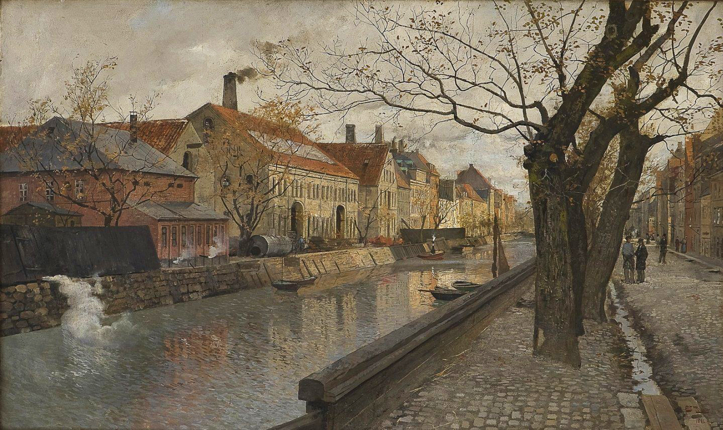 Frits Thaulow - View of Overgaden, 1881