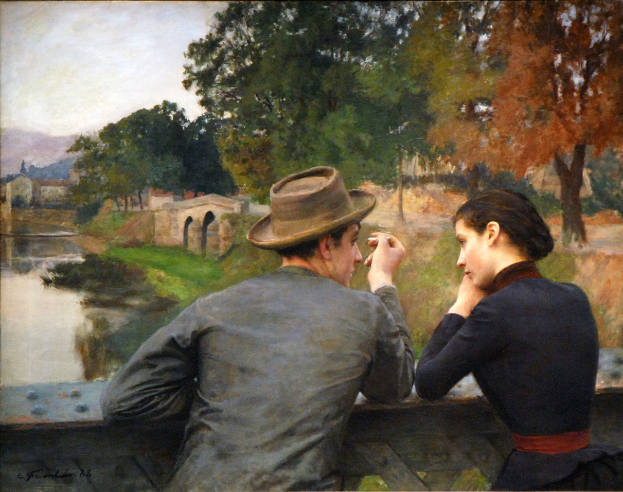 Emile Friant - The Lovers (Autumn Evening) 1888