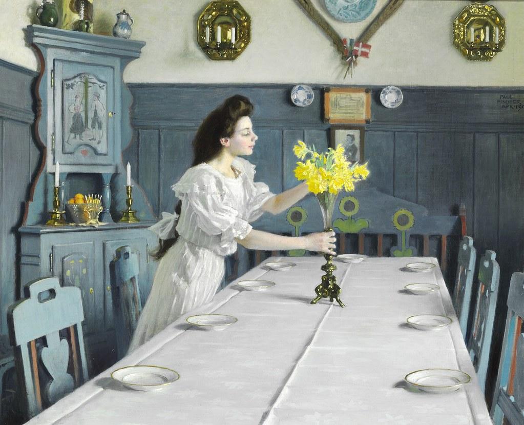 Paul Gustav Fischer - The Birthday, 1905