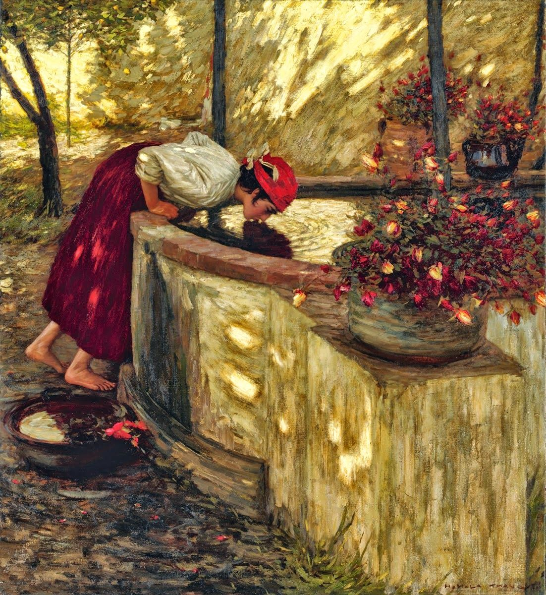 Henry Herbert La Thangue - Ligurian Roses, 1908