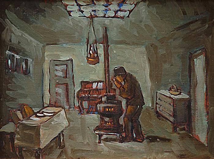 Ben Shahn Interior, Man By Stove. 1930 г.