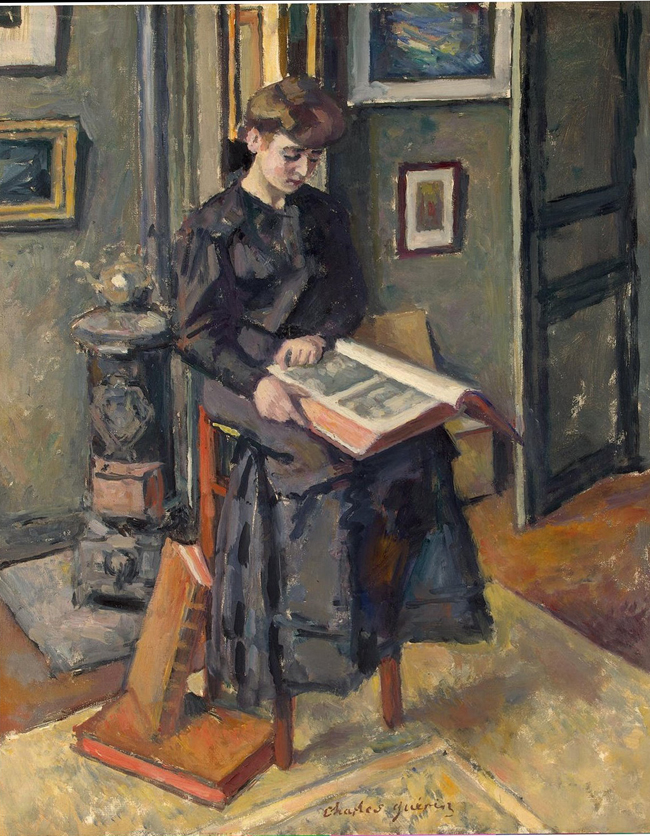 Charles Guérin — Young Girl with a Book