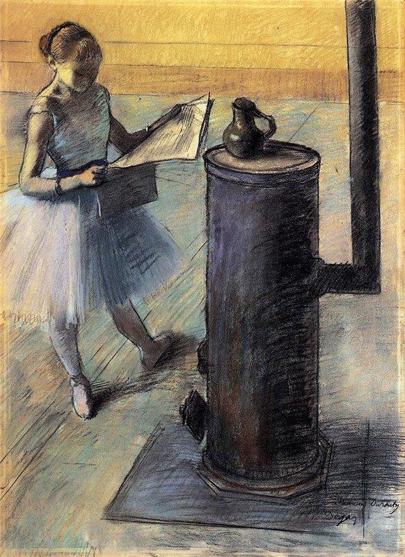 Edgar Degas Dancer Resting 1879-80