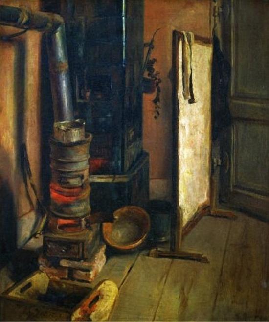 Eugene Delacroix Corner of a Painter's Studio, the Stove.