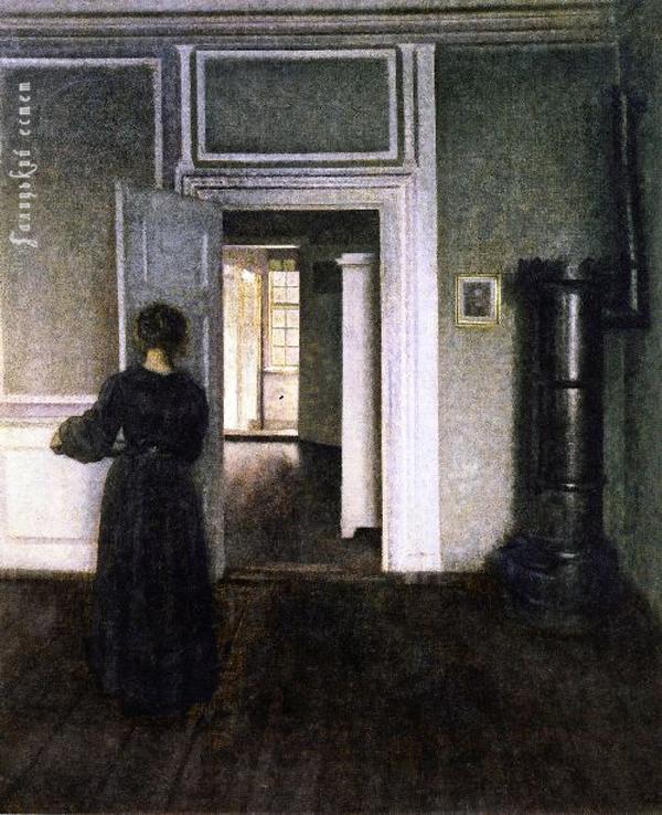 Hammershoi, Vilhelm - Interior with Stove