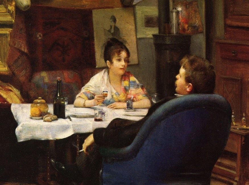 Henry Siddons Mowbray (American painter, 1858-1928) Studio Lunch 1880-83