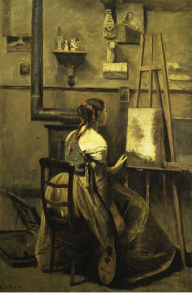 Jean-Baptiste Camille Corot, L'Atelier de Corot (vers 1873