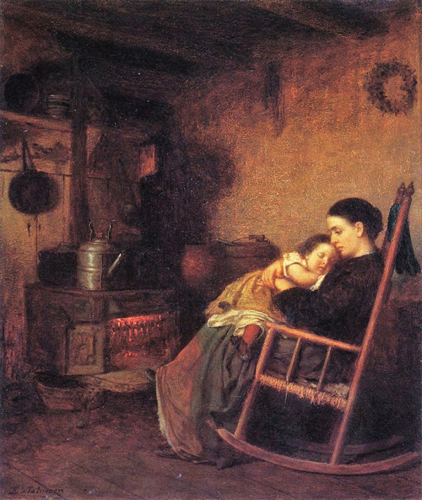 John Eastman (American Painter, fl 1842-1880) Mother and Child