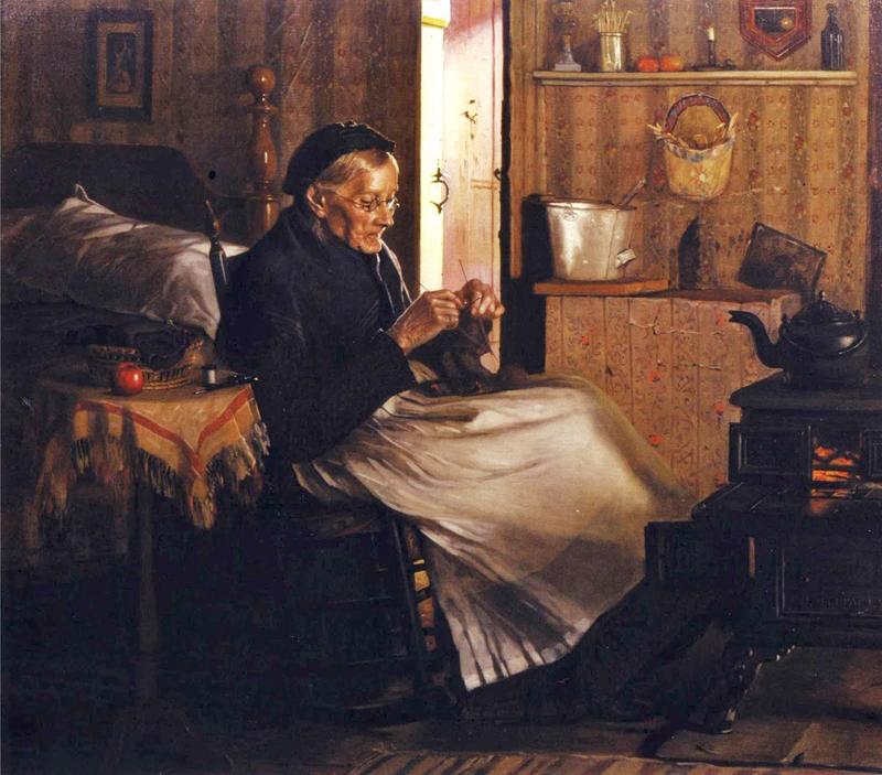 John George Brown (American genre paintere, 1831-1913)   Home Comforts