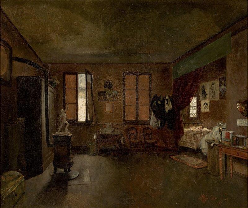 José Ferraz de Almeida Júnior O Ateliê do Artista. 1886