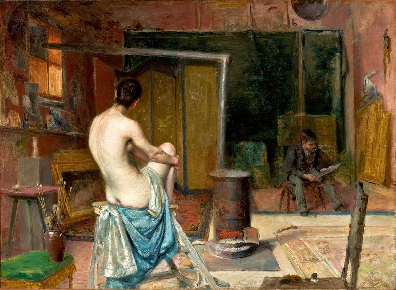 Jose Malhoa The Artist's Atelier 1893-94