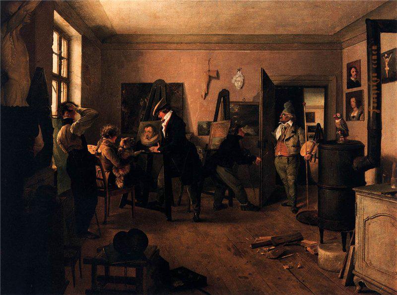 Josef Franz Danhauser The Scholars' Room. 1842