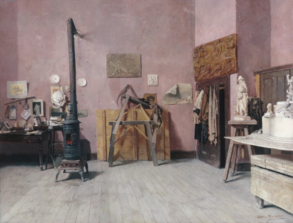 Lui CHarlz Moller - Studiya skulptora  1880