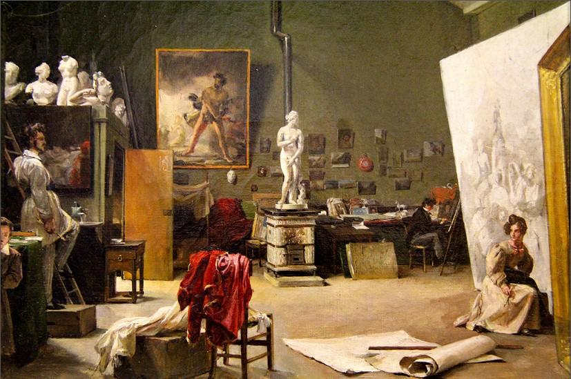 Marie-Amélie Cogniet Intérieur de l'atelier de Léon Cogniet