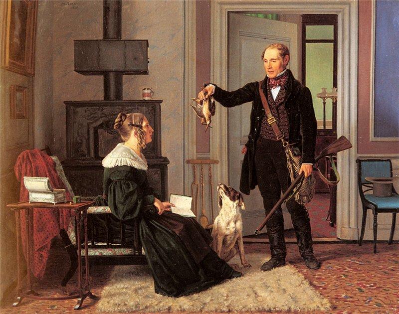 Martinus Rørbye Royal Hunt Master Von Zeuthen And His Wife 1839