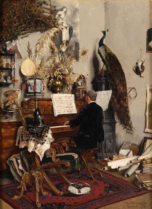 Mußestunde by Alexander Schmidt-Michelsen, 1884