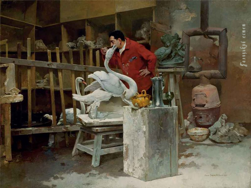 ouis Robert Carrier-Belleuse The Animal Sculptor 1894