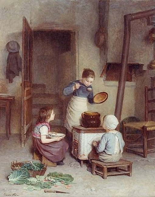 Pierre Edouard Frere The Young Cook.