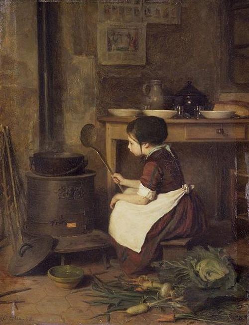 Pierre Édouard Frère, The Little Cook, ca. 1858
