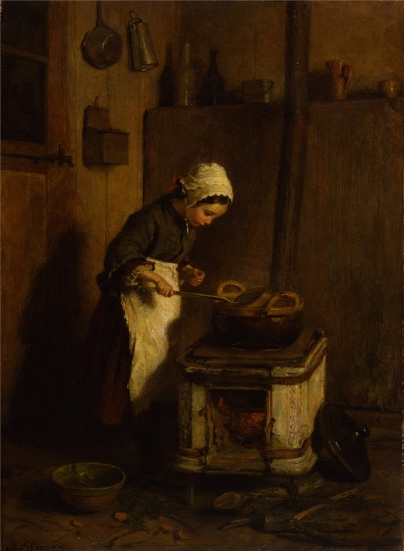 Pierre-Edouard Frere The Little Housekeeper.