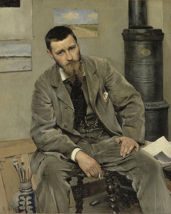Richard Bergh Portrait of painter Nils Kreuger. 1883