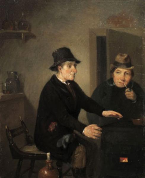 Richard Caton Woodville (American painter, 1825-1855) Scene in a Bar Room 1845