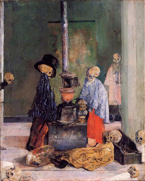 Skeletons Warming ThemselvesJames Ensor1889