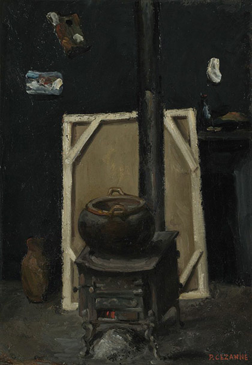 Stove in the atelier - Paul Cezanne