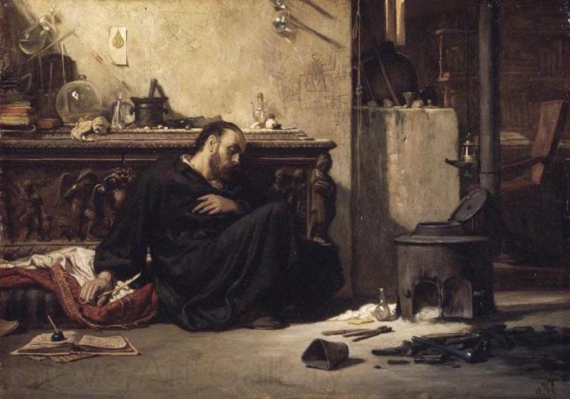The Dead Alchemist by Elihu Vedder