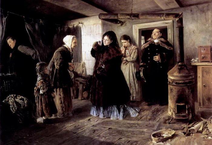 Маковский Владимир Егорович  Посещение бедных   1874