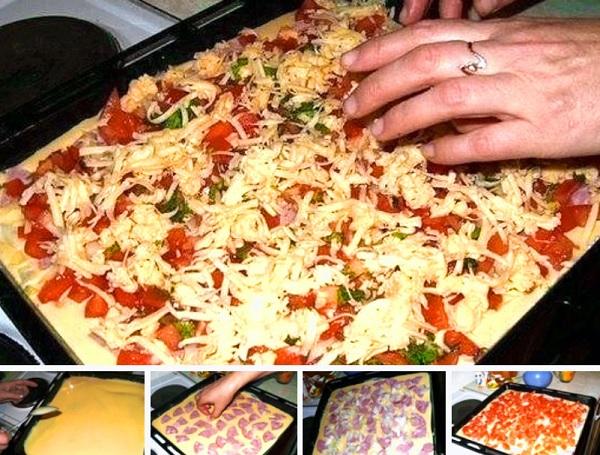 Быстрая пицца - рецепт для тех, кто любит пиццу, но ленится ее готовить