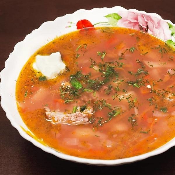 Суп из красной фасоли со свининой