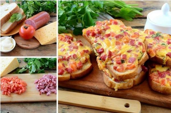 Сочные горячие бутерброды