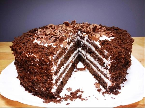 Очень вкусный торт Черный принц на кефире