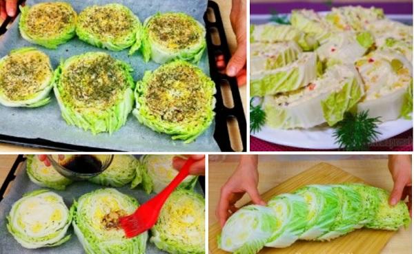 Быстрый рецепт очень вкусной закуски из пекинской капусты