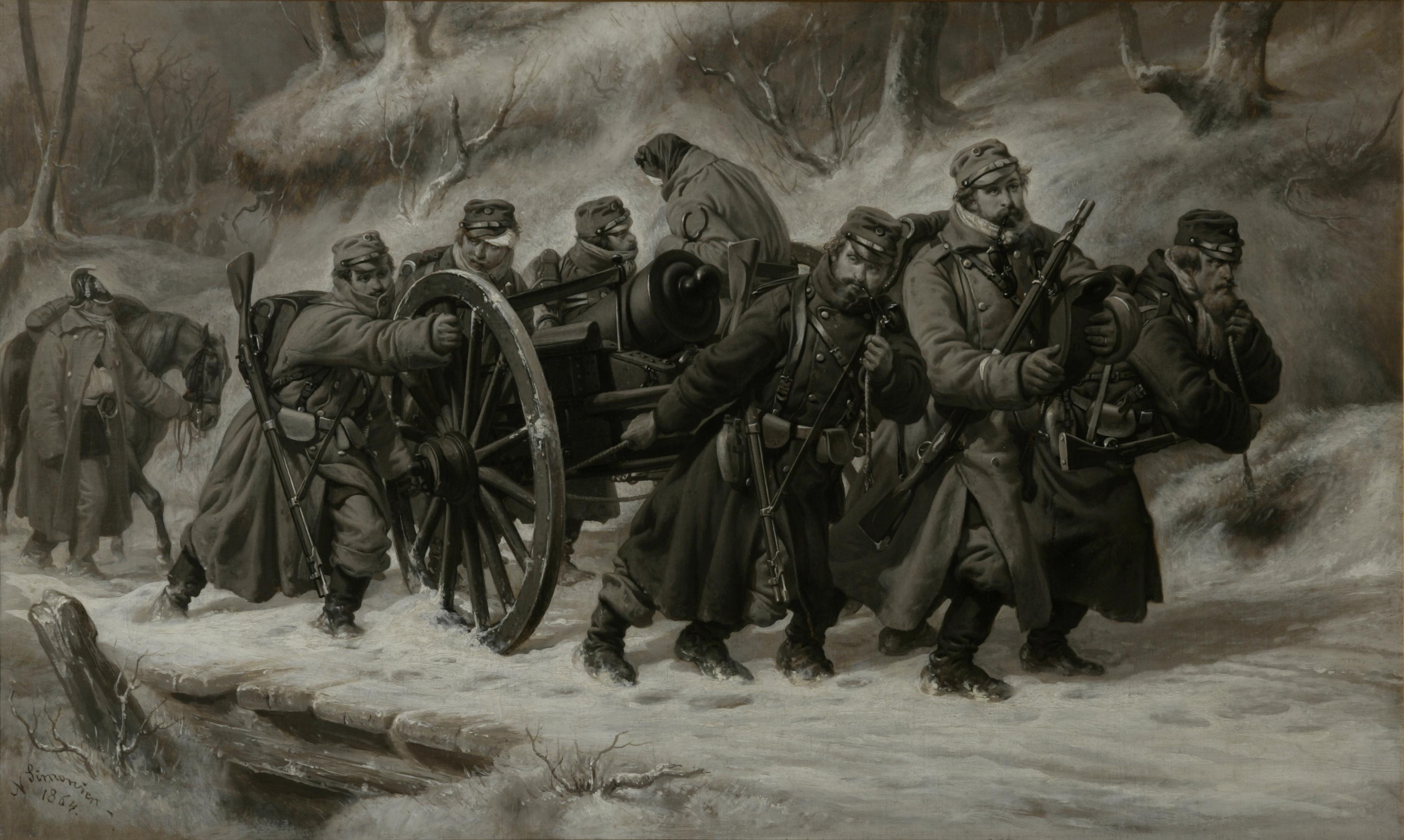 Rückzug_aus_dem_Danewerk_5-6._Februar_1864