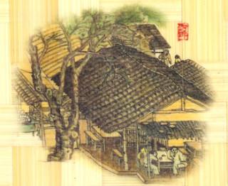 гравюра чаепитие яп