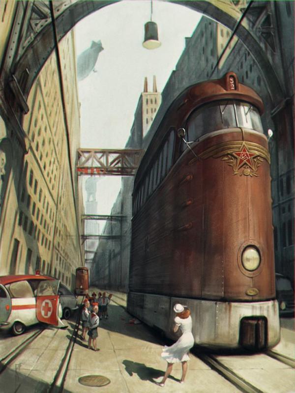 80b2566662d1ff24d916f07acf5e9172--steampunk-city-retro-cars