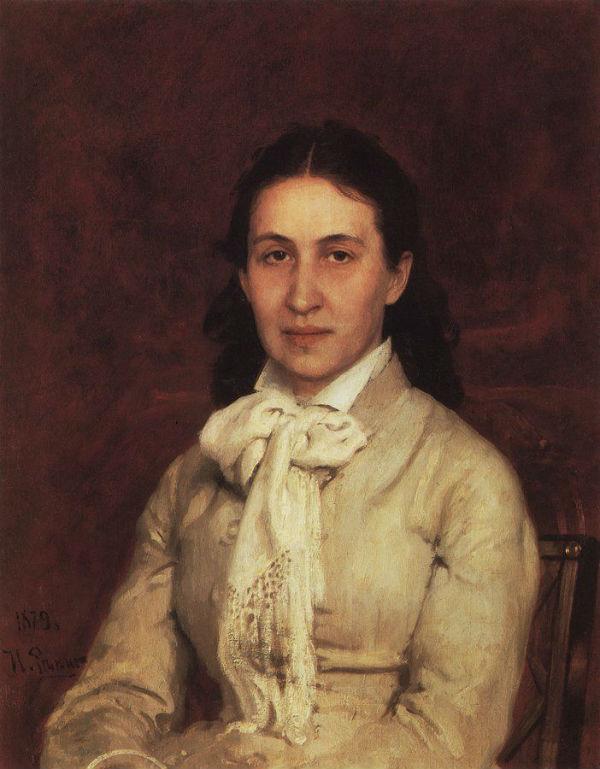 3-Илья Ефимович Репин - Портрет Е Г Мамонтовой -  1879.jpg