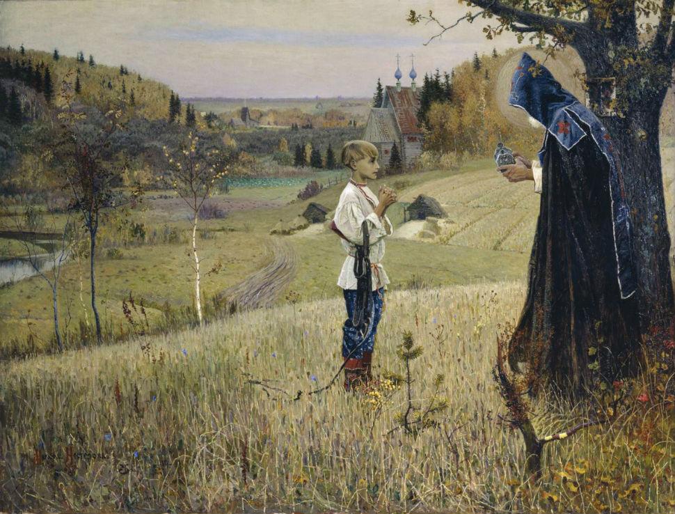 Михаил Васильевич Нестеров - Видение отроку Варфоломею - 1890.jpg