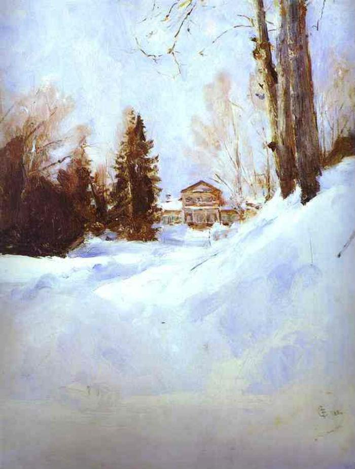 3-Валентин Александрович Серов - Зима в Абрамцеве - 1886.jpg