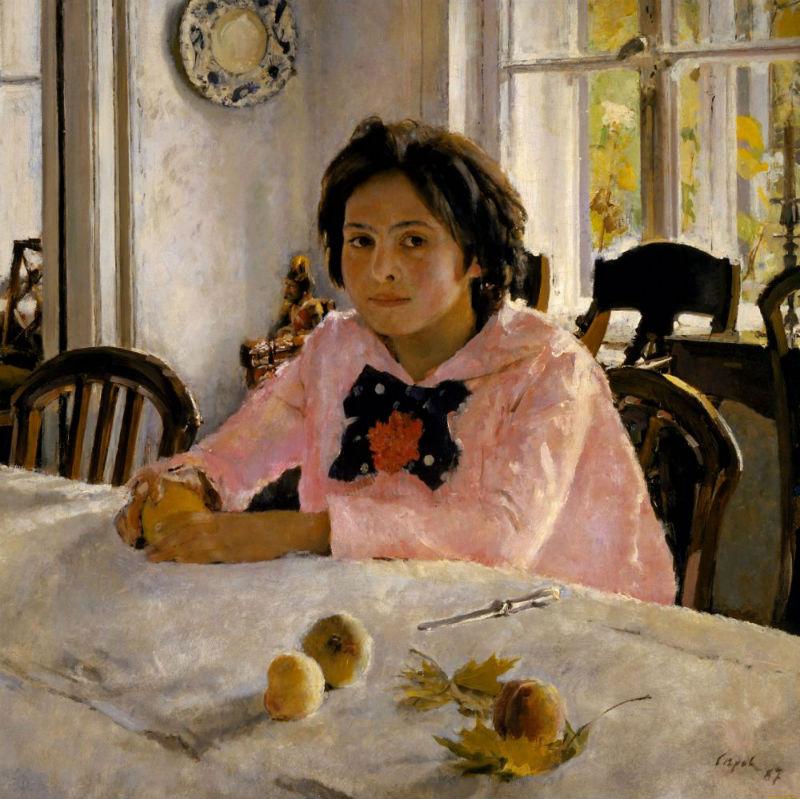 4-Валентин Александрович Серов - Девочка с персиками (Портрет В С  Мамонтовой) - 1887.jpg