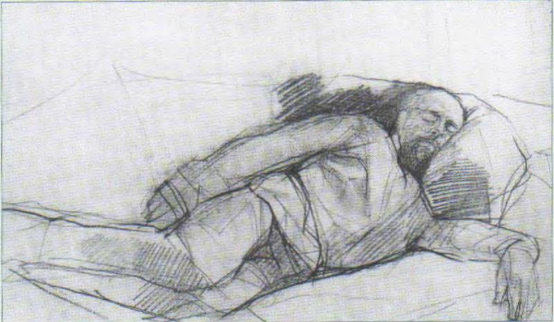 5-Валентин Александрович Серов - Портрет спящего Саввы Мамонтова - 1880-е.jpg