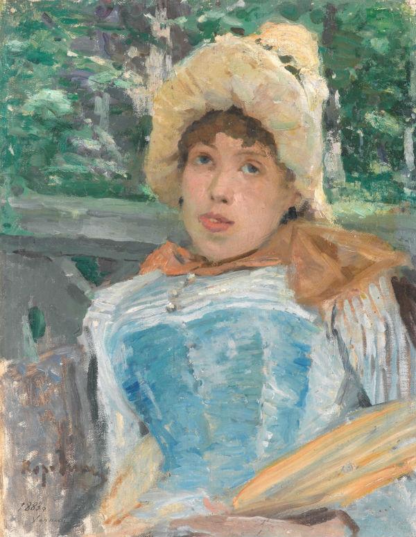 3-Портрет хористки -Константин Алексеевич Коровин - 1887.jpg