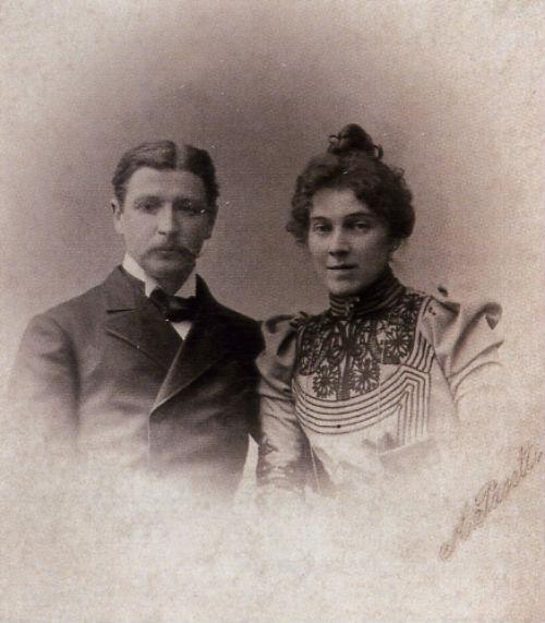 1-Михаил Врубель с женой Надеждой Забелой - 1896.jpg