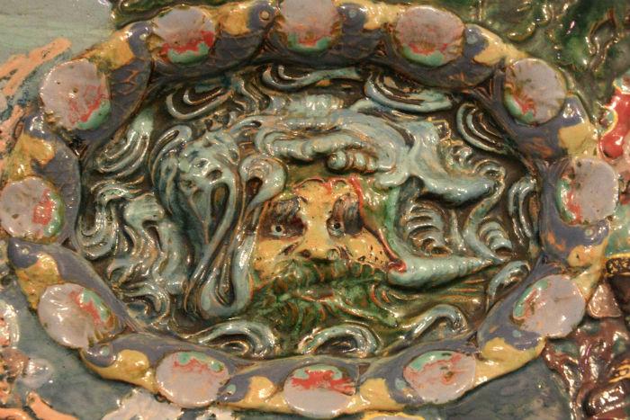 6-Врубель М А - Фрагмент - Декоративное блюдо-панно Садко в гостях у морского царя.jpg