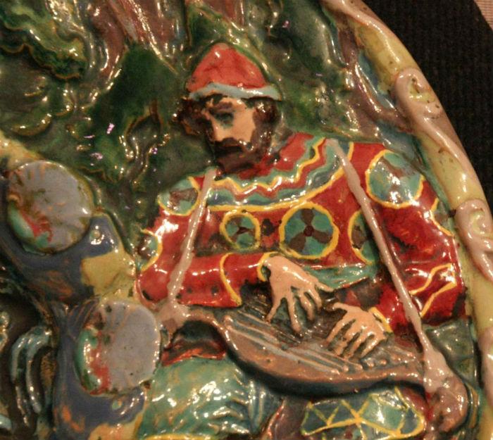 7-Врубель - Декоративное блюдо-панно Садко в гостях у морского царя - Фрагмент.jpg
